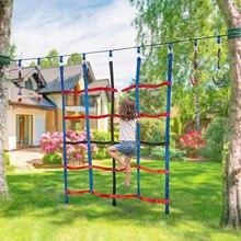 Ninja net poliéster escalada carga rede corda escada para crianças ao ar livre treehouse ginásio playground obstáculo curso de treinamento net