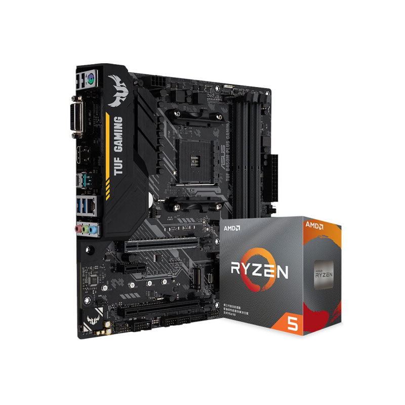 Bundle AMD RYZEN R5 3600 CPU Processor 6 Core 12 Thread (r5) 7nm 3.6GHz 65W AM4With ASUS TUF B450M-PRO GAMING Motherboard image