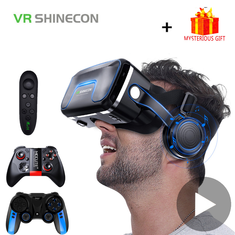 VR Shinecon 10.0 Helmet 3D Glasses Virtual Reality Casque For iPhone Android Smartphone Smart Phone Goggles Gaming 3 D Lunette
