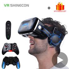 VR Shinecon 10 0 kask okulary 3D wirtualna rzeczywistość Casque dla iPhone smartfon z androidem inteligentny telefon gogle Gaming 3 D luneta tanie tanio vr Shinecon 10 0 headphone SC-G06EA SC G06EA Pojedyncze Smartphones Binocular Wciągające Virtual Reality vr Shinecon 10 0 headphone SC-G04EA SC G04EA