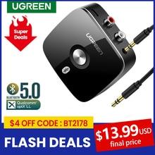 UGREEN Bluetooth RCA מקלט 5.0 aptX LL 3.5mm שקע Aux מתאם אלחוטי מוסיקה עבור טלוויזיה רכב RCA Bluetooth 5.0 3.5 אודיו מקלט