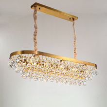 Manggic New LED Modern Villa Rectangular Restaurant Light luxury Crystal Chandelier Nordic Simple Chandelier decoracion lamp(China)