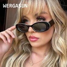 WERGASUN  New Fashion Vintage Small Oval Sunglasses Women Brand Trendy Sun Glasses Men Retro Shades Oculos Feminino UV400