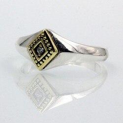 BOCAI nowa prawdziwa czysta s925 srebrna biżuteria mężczyzna i kobieta pierścionki ręcznie grawerowane różowe złoto diamenty moda i delikatny pierścionek