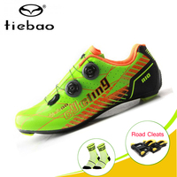 TIEBAO Carbon Fiber Cycling Shoes off Road Bike Shoes Riding Equipment Bicycle Locking Bike shoe sapatilha ciclismo Sneakers