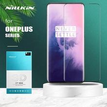 Dla Oneplus 7T 7 Pro 6T szkło Nillkin CP + Max pełna pokrywa 3D bezpieczne ochronne szkło hartowane na ekran do folii szklanej Oneplus 7T 7 Pro