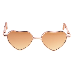 Trendy Heart Shaped Alloy Frame Glasses For 12inch Blythe Dolls Accessory NEW