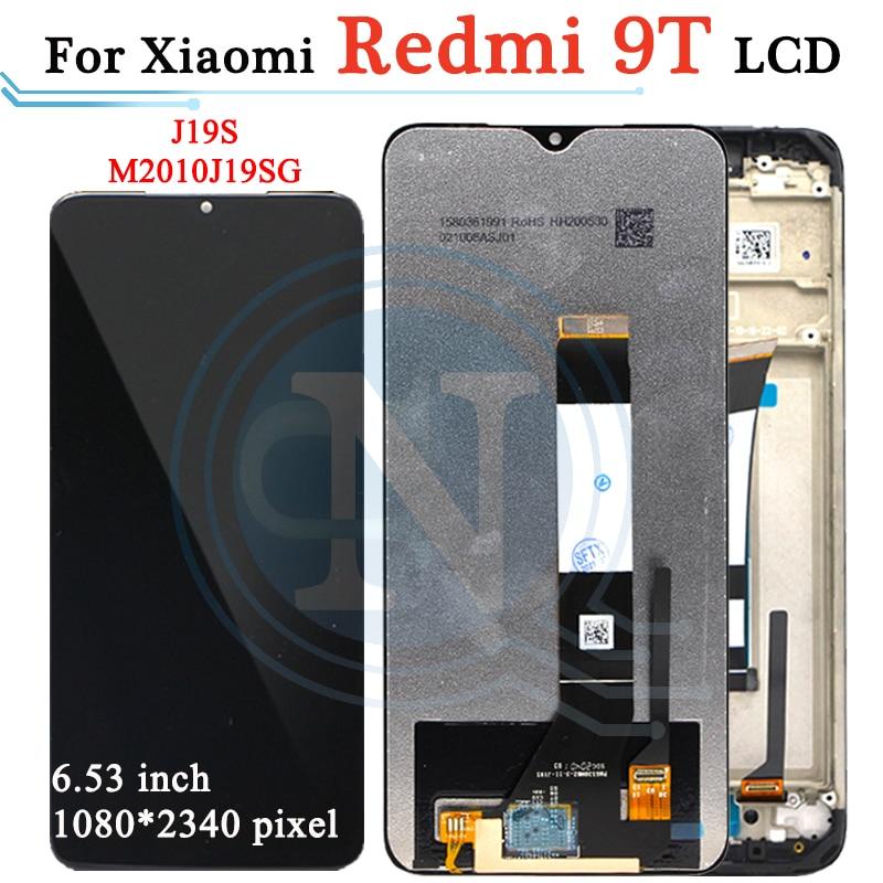 ЖК-дисплей 6,53 дюйма для Xiaomi Poco M3, сенсорный экран, дигитайзер в сборе с рамкой для Redmi 9T, J19S, M2010J19SG, ЖК-дисплей, оригинал