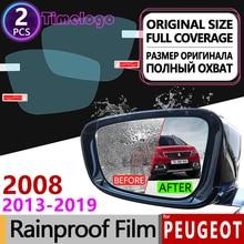 For Peugeot 2008 2013-2019 Full Cover Anti Fog Film Rearview Mirror Rainproof Anti-Fog Accessories 2013 2014 2015 2016 2017 2018 for peugeot 3008 2008 2020 mk1 mk2 3008gt gt full cover anti fog film rearview mirror rainproof accessories 2013 2015 2017 2018