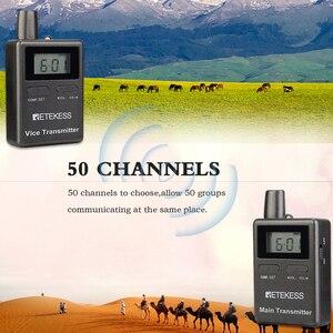 Image 5 - Retekess TT105 2.4GHz transmetteur sans fil Mic équitation Communication pour système de Guide touristique musée église système de traduction