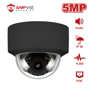 Anpviz (Hikvision Compatible) IPC-D250B 5MP Dome POE IP Camera With Audio Home/Outdoor Security IR 30m Network Cam ONVIF H.265 100% original 6mp dahua ip camera english firmware ir 80m h 265 ipc hfw4631m i2 ir cut hd1080p support poe dh ipc hfw4631m i2
