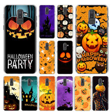 Funny Halloween Pumpkin Phone Case for Samsung Galaxy M10 M20 M30 M40 J4 J6 J8 2018 J4+ J6+ Hard Cover Capa(China)