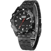 SHARK Sport Horloge Mannen LCD Auto Datum Alarm Stalen Band Chronograaf Dual Time Mannen Relogio Quartz Digitale Horloge SAW190-in Quartz Horloges van Horloges op