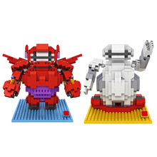 hot lepining creators Classic japan cartoon film big hero 6 Baymax mini micro diamond building blocks model bricks toys for gift 6 inch 16cm big hero 6 baymax robot action figure cartoon movie baymax removable armor 2015 new holiday gift kids toys