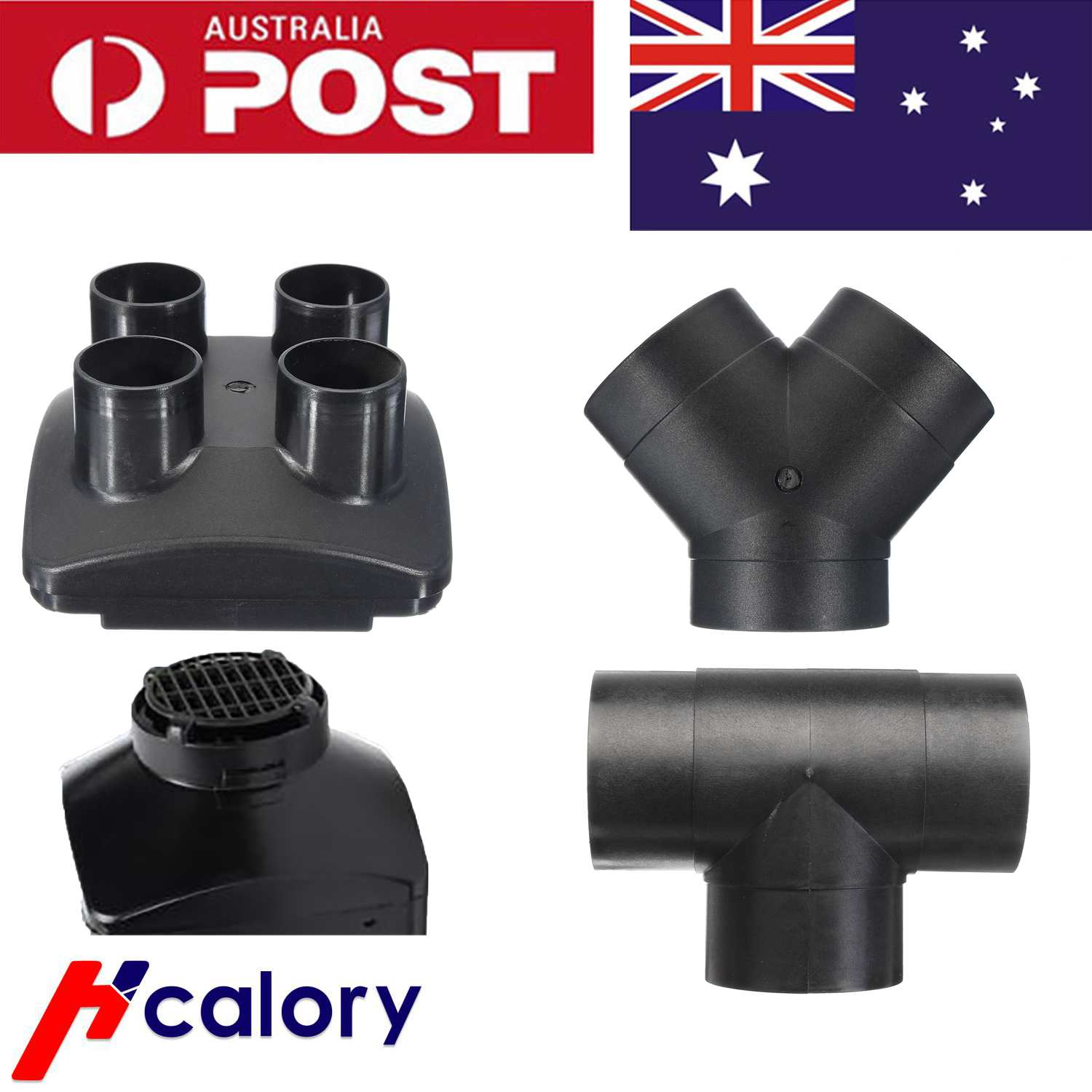 Diesel Air Heater Part Accessories Outlet Y-shaped T-shaped 4/2-Outlet For Auto Car For Car Air Heaters  Diesel Accessories Pipe