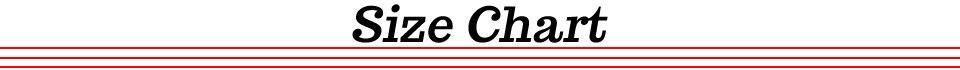 5Size Chart