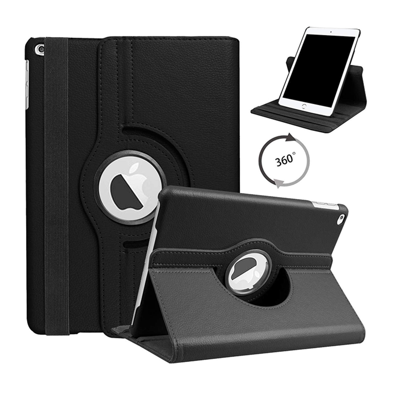 10.2 BLACK Black For iPad 10 2 2019 2020 Smart Cover 360 Degree Rotating Case for Apple iPad 7th