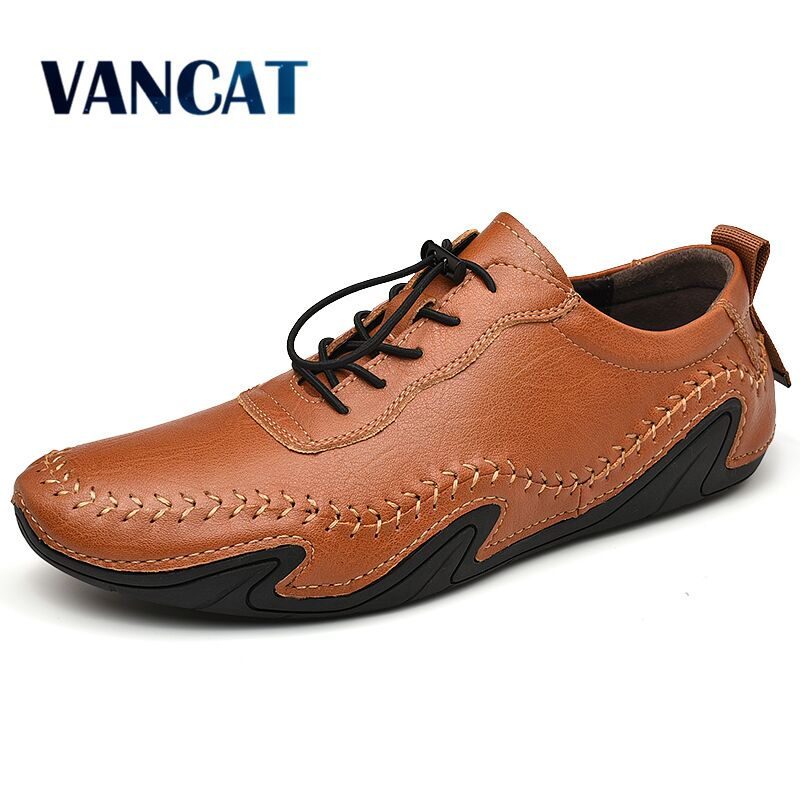 New Fashion Casual Shoes Loafers Quality Leather Men's Shoes  Men Flats Moccasins Shoes Comfortable Driving Shoes Big Size 38-47