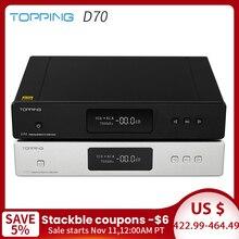 TOPPING D70 AK4497*2 DAC AK4118 XMOS XU208 DSD512 Native 32Bit/768kHz Hi Res audio with Remote Control Decoder