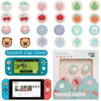 Cubierta de tapa de Joystick para Nintendo Switch NS Lite, funda de controlador Joy-con, flor rosa, cereza, estilo Gamepad Co