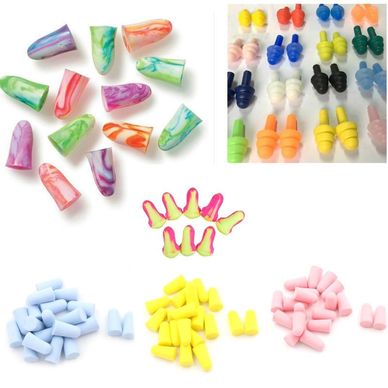 Tapones de silicona para los oídos, suaves, con reducción de ruido, para nadar, protectores para los oídos, para Comodidad para dormir, 1/5/10 pares