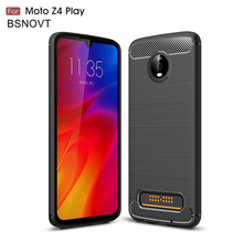 For Motorola Moto Z4 Play Case Soft Silicone Bumper Phone Cover BSNOVT