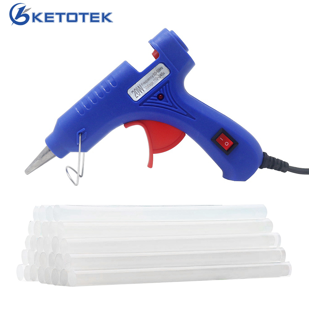 20W Hot Melt Glue Gun Industrial Mini Guns Thermo Electric Heat Temperature Tool Hot Melt Glue Sticks For Home DIY Crafts Tool