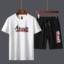 Мужчины% 27 спортивный костюм лето одежда спортивная одежда из двух предметов комплект футболка рубашка шорты бренд трек одежда +мужчины комплекты +сок wrld +спорт одежда