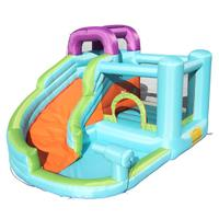 Inflatable Bounce House Slide Bouncer With Pool Area Climbing Wall Large Jumping Area Jumper Bouncer Castle Toys For Kids