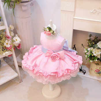 Light Pink Baby Girls Dresses For Party Wedding Tiered Baby frocks With Bow Toddler princess Birthday cupcake Dress - DISCOUNT ITEM  25 OFF Mother & Kids