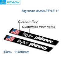 road bike frame flag name stickers custom rider id decals Bicycle MTB stickers Custom flag, custom name style 11