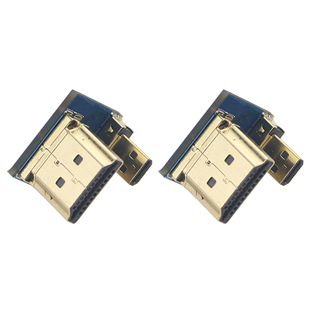 2PCS Small Adapter Practical Metal Durable Plug Portable Tools Connect HDMI To HDMI Accessories For Raspberry Pi 4B Micro