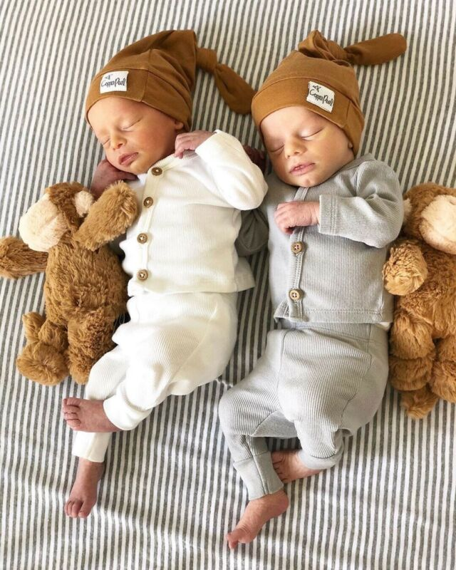 2019 Newborn Baby Girl Boy Knitted Long Sleeve Tops Pants Leggings Outfits Clothes Solid Button Baby's Sets