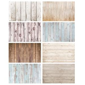 Wooden Plank Photographic Backgrounds Computer Printed Photophone Backdrop for Children Baby Pet Toy Photobooth Photo Studio