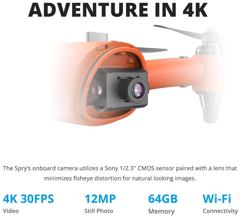 Swellpro Spry Waterproof drone Underwater Drone with 4K Camera portable drone with Remote Controller