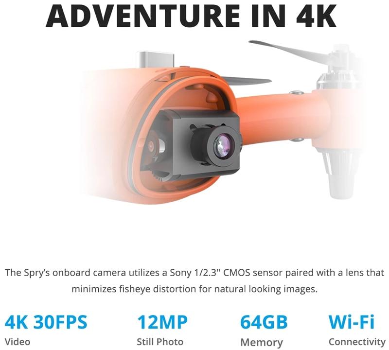 Helicóptero Drone subacuático portátil con cámara 4K