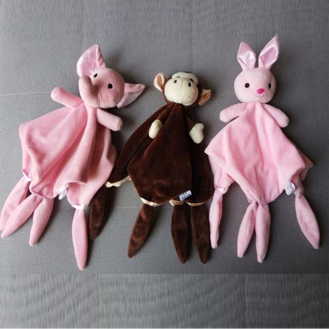 Elephant Rabbit Cute Soft Newborn Baby Rattles Baby Toy Plush Infant Comfort Towel Newborn Teether Early Educational Toy