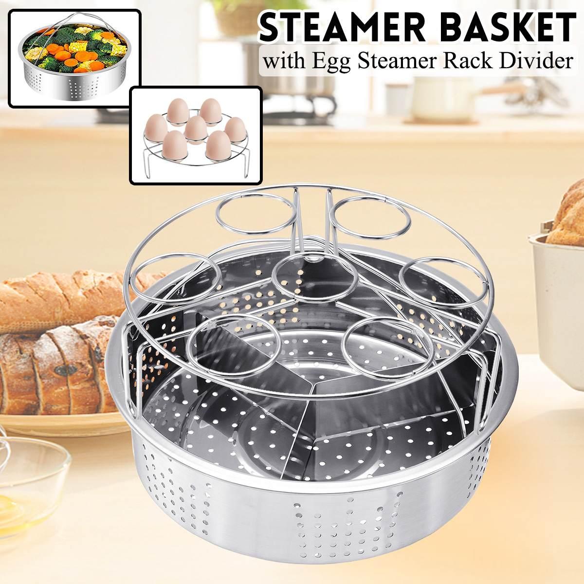 Steamer Basket With Egg Steamer Rack Divider Trivet Accessories For Instant Pot