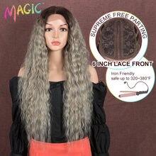 Синтетический Синтетические волосы на кружеве парик светильник