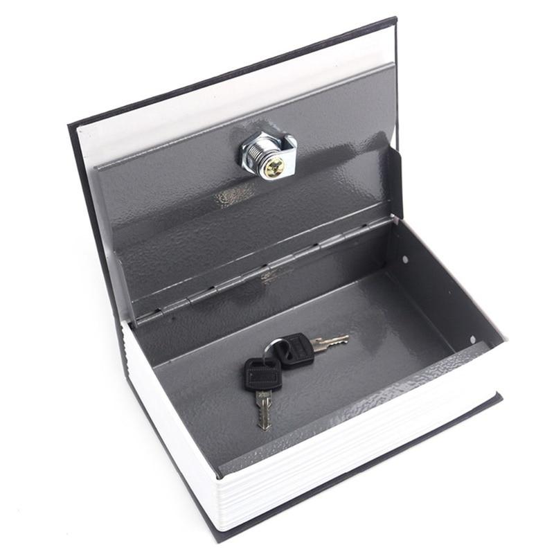 Security Simulation Dictionary Book Hidden Safes Case Home Cash Money Jewelry Locker Secret Safe Storage Box With Key Lock