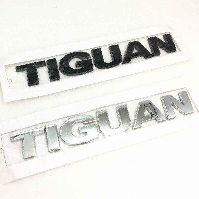 Серебристая или черная наклейка из АБС-пластика 3D для автомобильного стайлинга TIGUAN, наклейка с надписью на багажник с покрытием, наклейка с ...