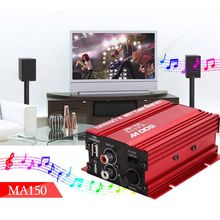 Free delivery 2018 Mini Hi-Fi 18W 2 Channel Stereo Amplifier For Car Auto Motorcycle HOT
