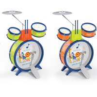 Kids Musical Drum Instrument Toys 2 Drums Simulation Jazz Drum Kit with Drumstick Education Learn Music Toy for Child