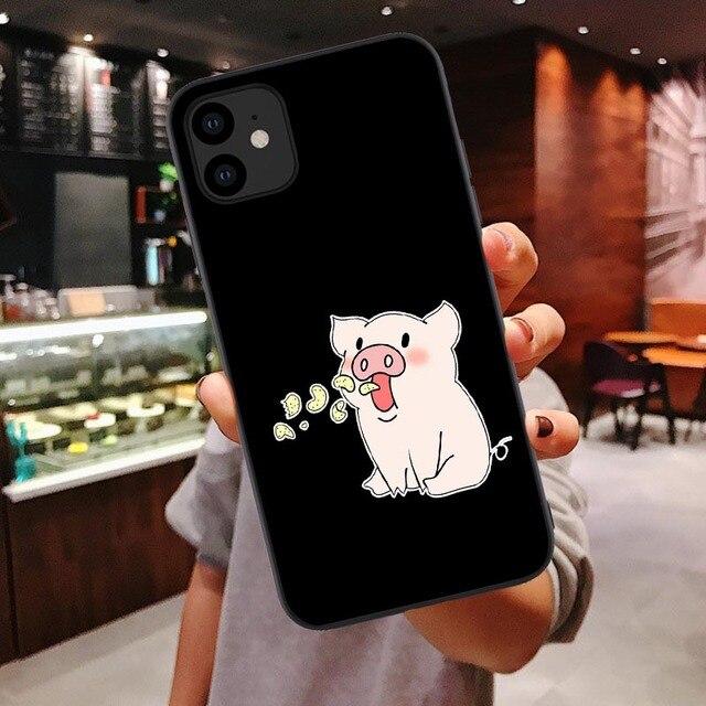 Pizza drôle meilleurs amis coque de téléphone pour iPhone 11 Pro Max X XR XS Max 7 8 6 6s Plus Couple noir souple couverture arrière coque Funda