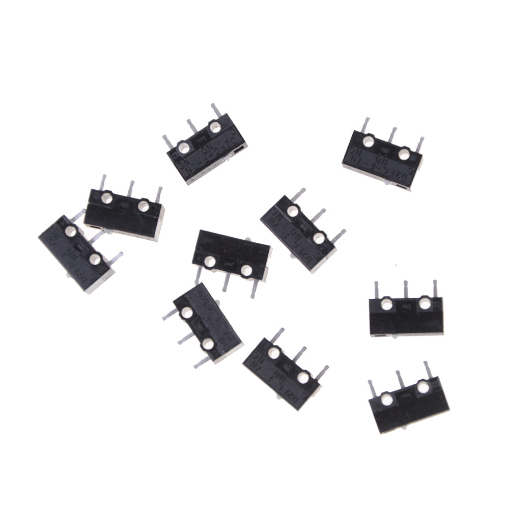 10pcs//lot D2FC-F-7N Micro Switch for Mouse Replacement Substitute Tested