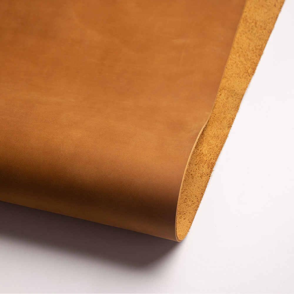 Qualidade superior peça de couro bronzeado diy material de couro genuíno grão cheia couro amarelo marrom couro peça leathercraft