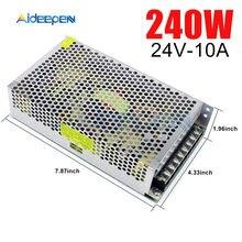 24V DC 10A 240 W interruptor adaptador de corriente 24V 10A 240 vatios convertidor de voltaje interruptor regulado fuente de alimentación para LED