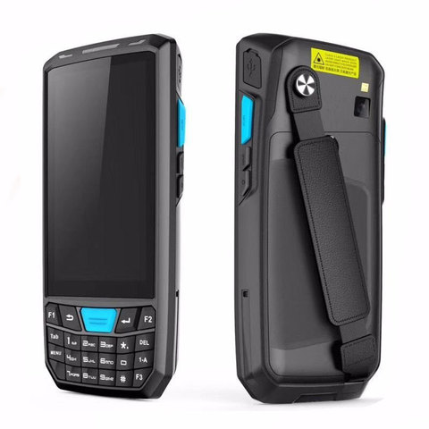 pda scanner de codigo de barras android 8 1 terminal coletor dados handheld ip66 telefone
