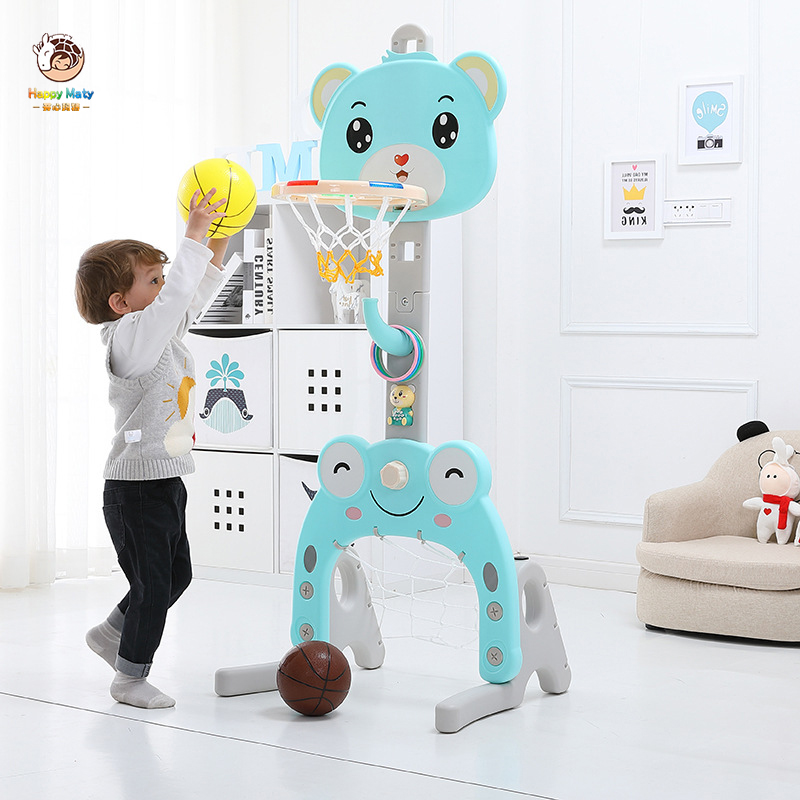 Children Basketball Stands Height Adjustable Baby Basketball Goal Hoop Toy Set Shooting Toy Home Indoor Sport Game For Kids H061
