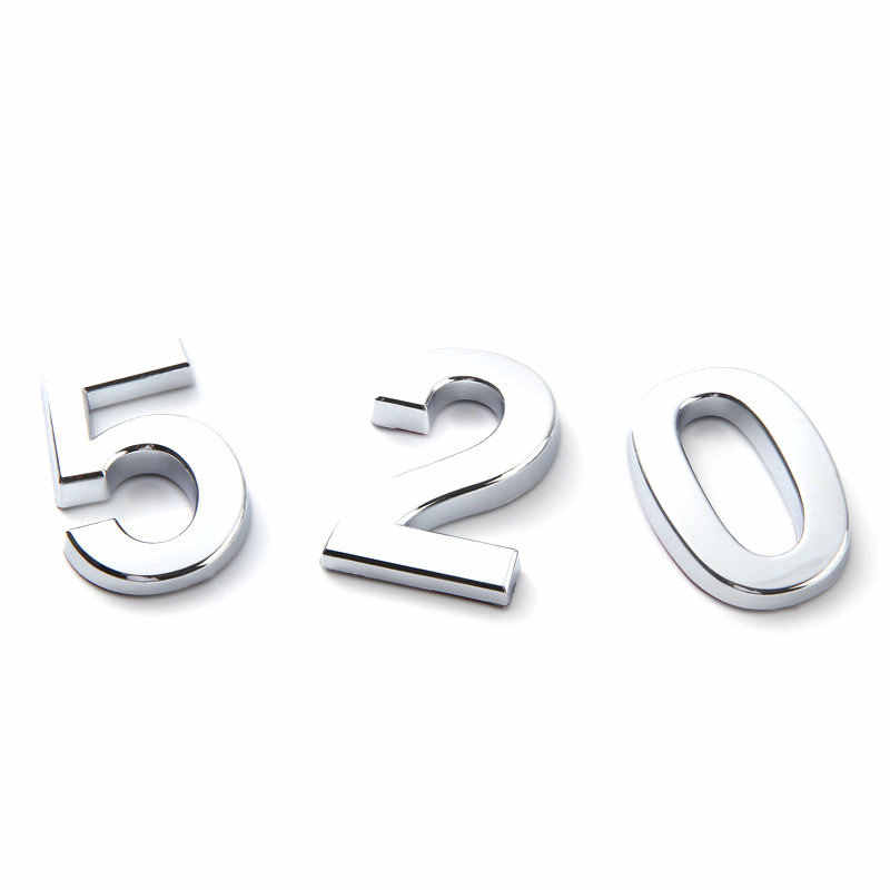 Door Plate Gate Digit House Drawer Sign Home Sticker 0 to 9 Plastic Number 1pcs